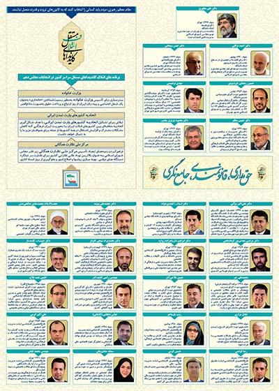 بروشور ائتلاف کاندیداهای مستقل